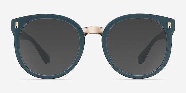 Vedette Matte Green Plastic-metal Sunglass Frames