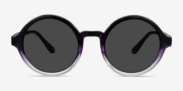 Solstice Purple Clear Plastic Sunglass Frames