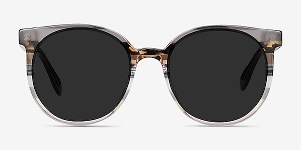 Valence Gray Brown Acetate Sunglass Frames