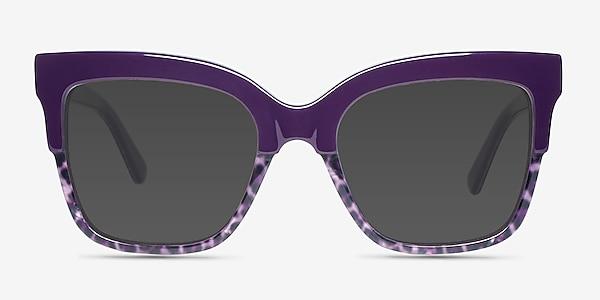 Intrigue Purple Leopard Acetate Sunglass Frames