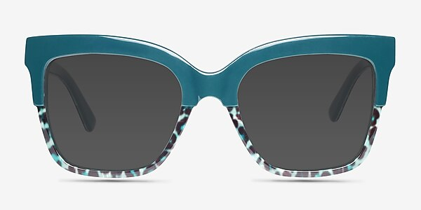 Intrigue Green Leopard Acetate Sunglass Frames