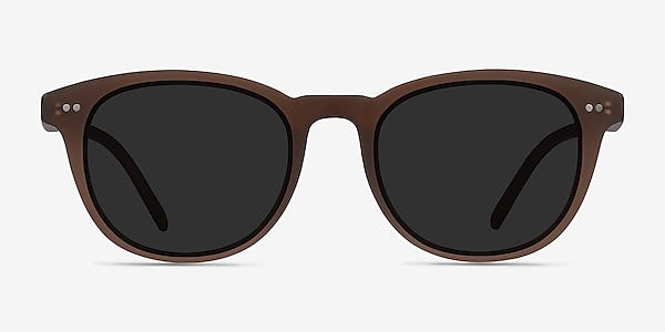 Hidden Brown Plastic Sunglass Frames
