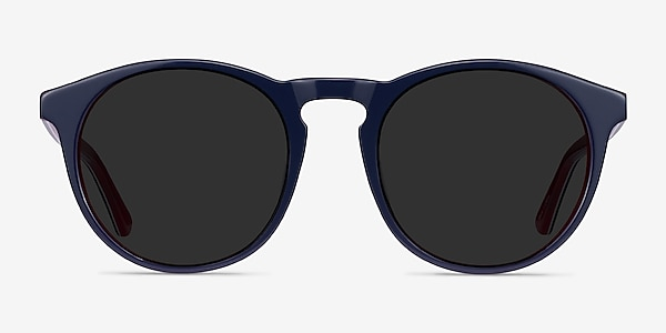 Monument Navy & Red Acetate Sunglass Frames