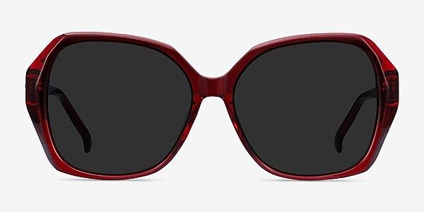 Isabella Burgundy Acetate Sunglass Frames