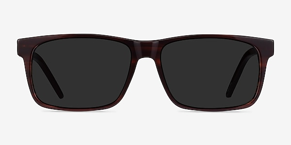 Sun Sydney Brown Striped Acetate Sunglass Frames