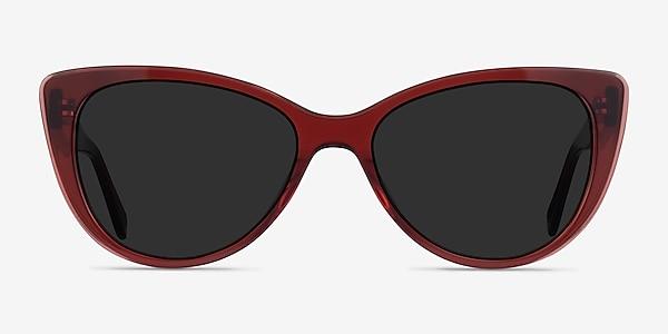 Lamarr Clear Red Acétate Soleil de Lunette de vue
