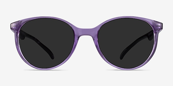 Talent Clear Purple Floral Plastic Sunglass Frames