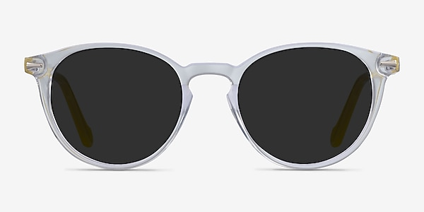 Origami Clear Yellow Acetate Sunglass Frames