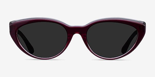 Palm Beach Clear Burgundy Acetate Sunglass Frames