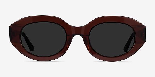 Swan Clear Brown Acetate Sunglass Frames