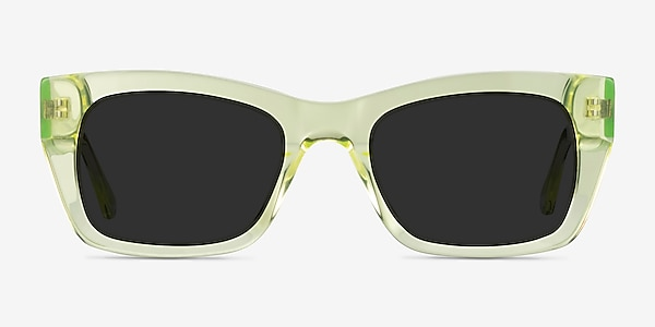 Because Clear Yellow Acetate Sunglass Frames
