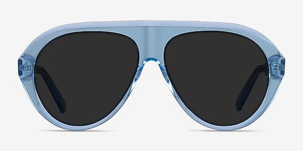 Map Clear Blue Acetate Sunglass Frames