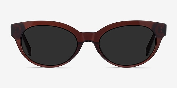 Vacation Clear Brown Acetate Sunglass Frames