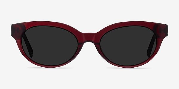 Vacation Clear Burgundy Acetate Sunglass Frames