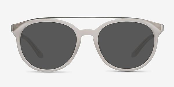 Morning Breeze Matte White Acetate-metal Sunglass Frames