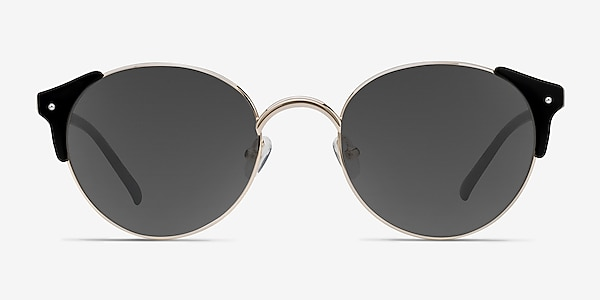 Miaou Golden Black Plastic-metal Sunglass Frames
