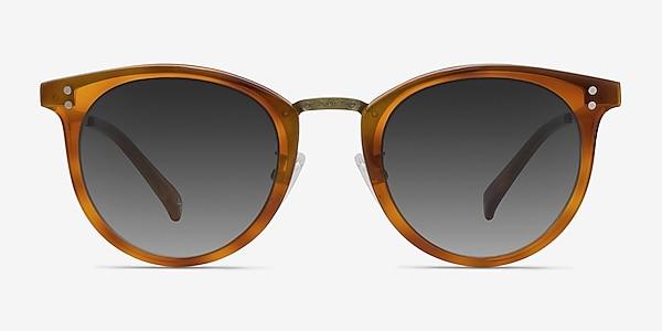 Sun Nostalgia Cinnamon Acetate-metal Sunglass Frames