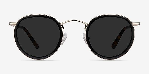 Rollin Black Acetate-metal Sunglass Frames