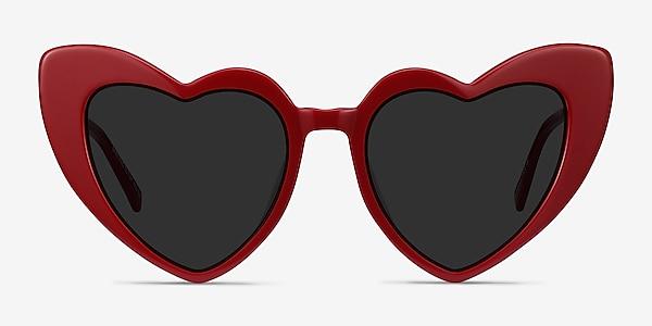 Darling Burgundy Acetate-metal Sunglass Frames