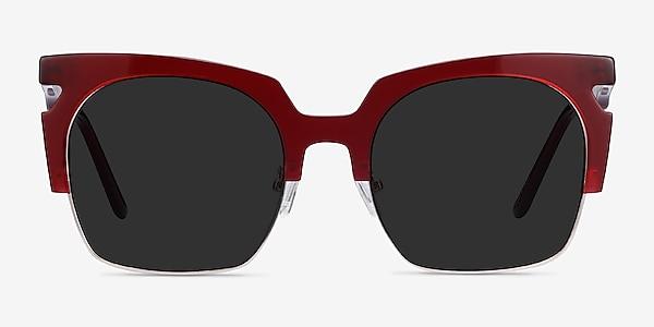 Ilsa Burgundy Acetate-metal Sunglass Frames