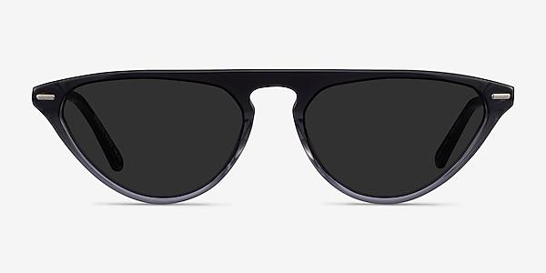 Satellite Clear Gray Metal Sunglass Frames