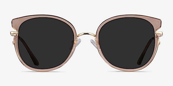 Fascination Clear Brown Gold Acetate Sunglass Frames