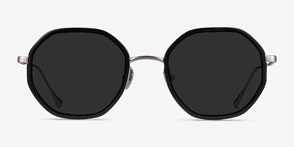Hinode Black Gunmetal Acetate Sunglass Frames