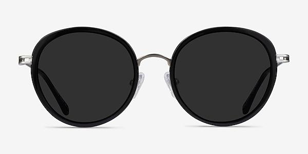Nagano Black Silver Acetate Sunglass Frames