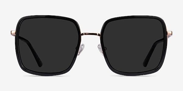 Graphene Black Gold Acetate Sunglass Frames