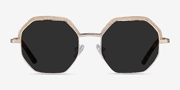 Futurist Shiny Gold Acetate Sunglass Frames