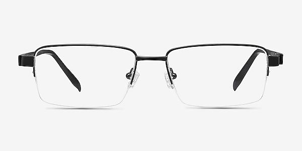 Aron Black Titanium Eyeglass Frames