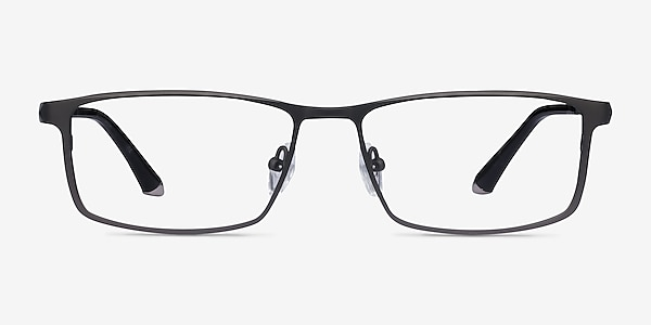 Driven Gunmetal Titanium Eyeglass Frames