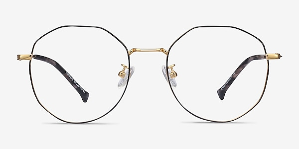 The Path Black Golden Titanium Eyeglass Frames