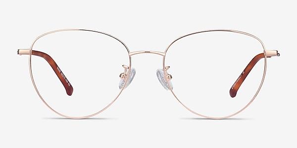Gaze Rose Gold Titanium Eyeglass Frames