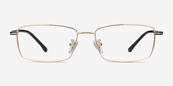 Holmst Golden Titanium Eyeglass Frames