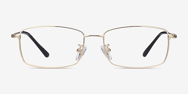 Hobbes Golden Titanium Eyeglass Frames