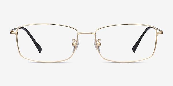 Embark Golden Titanium Eyeglass Frames