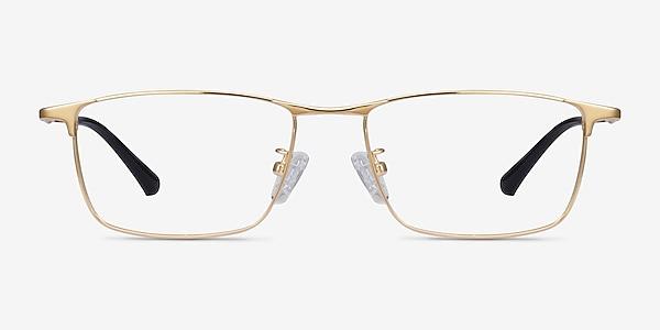 Fielder Gold Titanium Eyeglass Frames