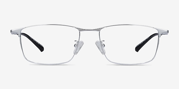 Fielder Silver Titanium Eyeglass Frames