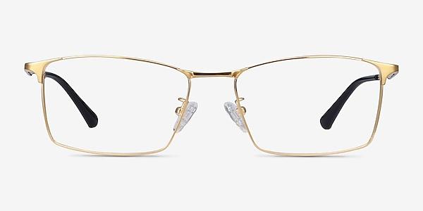 Decider Gold Titanium Eyeglass Frames