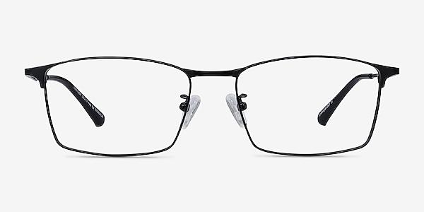 Decider Black Titanium Eyeglass Frames
