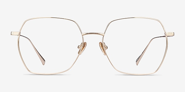 Holistic Gold Titanium Eyeglass Frames