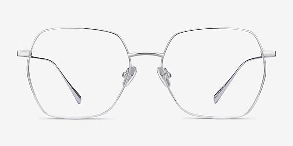 Holistic Silver Titanium Eyeglass Frames