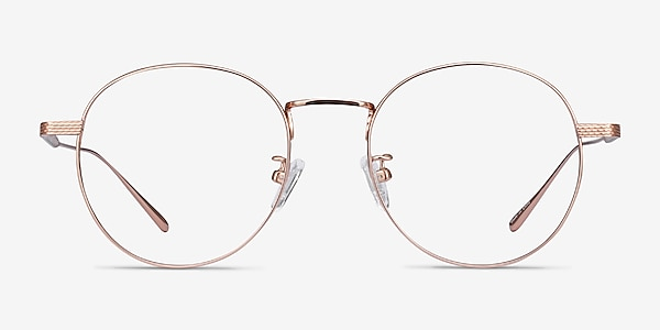 Geometry Rose Gold Titanium Eyeglass Frames