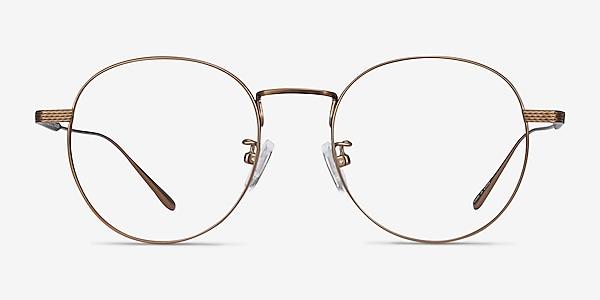 Geometry Bronze Titanium Eyeglass Frames