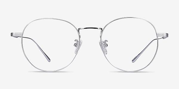 Geometry Silver Titanium Eyeglass Frames
