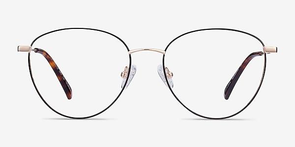 Lila Black & Gold Titane Montures de lunettes de vue