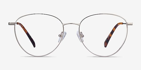 Lila Silver Titanium Eyeglass Frames