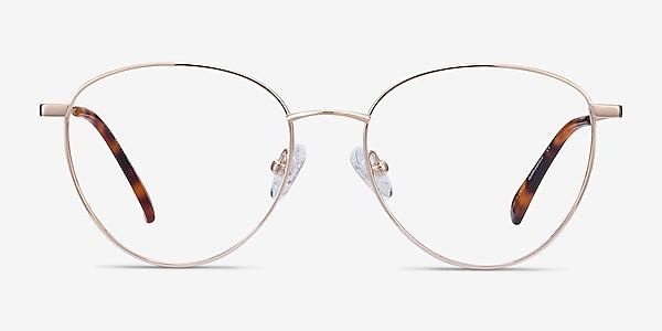 Lila Doré Titane Montures de lunettes de vue