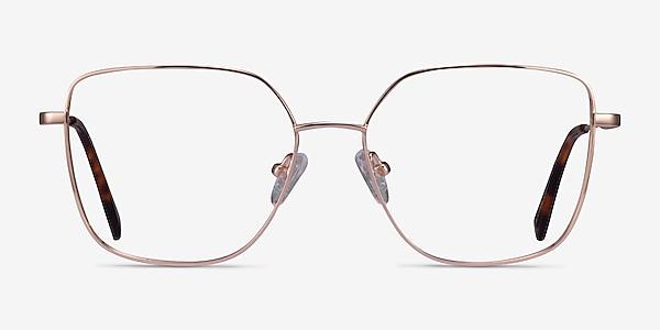 Bessie Rose Gold Titanium Eyeglass Frames